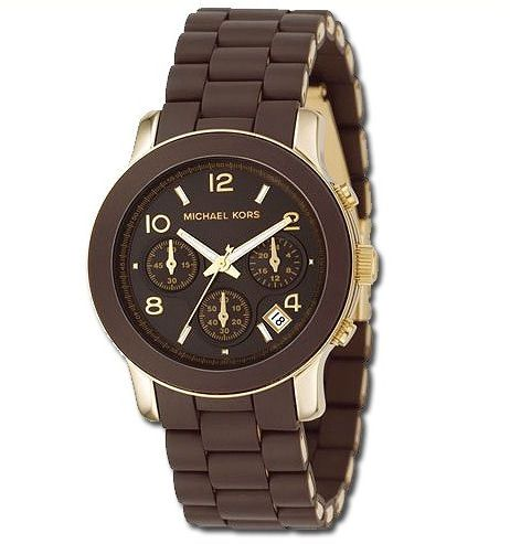 Relógio Michael Kors emborrachado Marrom fecho(replica) d32510d524