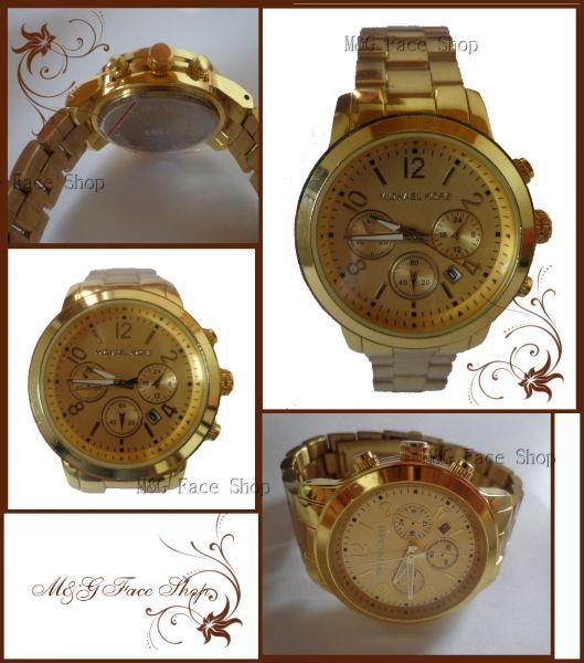 001 - Relógio MK dourado (replica) a638a4194f